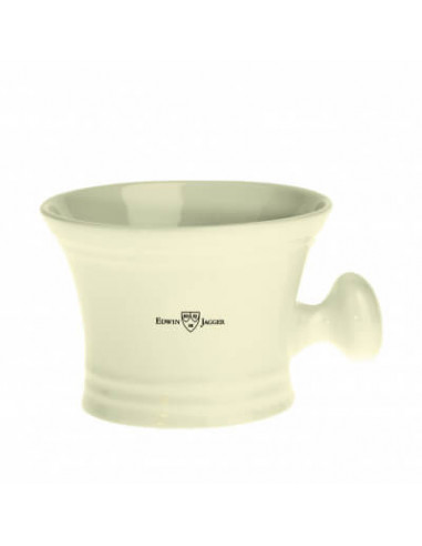 Edwin Jagger Shaving Bowl Ivory Porcelain With Handle