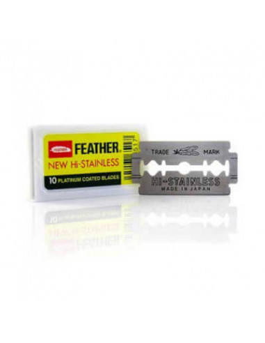 Feather Hi Stainless Platinum Double Edge Razor Blades 10 pcs