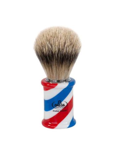 Omega Silvertip Barber Pole Shaving Brush