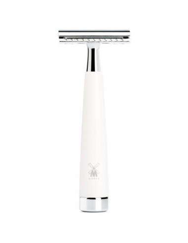 Muhle Safety Razor Liscio Resin White R147SR