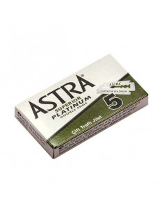 Astra Superior Platinum Double Edge Razor Blades 5 pcs
