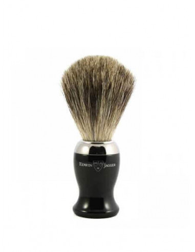 Edwin Jagger Ebony Pure Badger Shaving Brush 81SB716CR