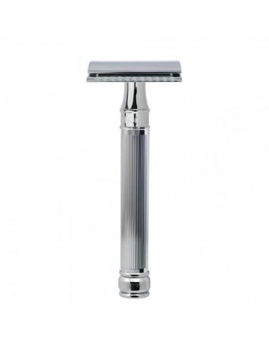 Edwin Jagger Chrome Lined DE Safety Razor Long Handle