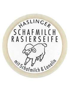 Haslinger Sheepmilk & Lanolin Shaving Soap 60g