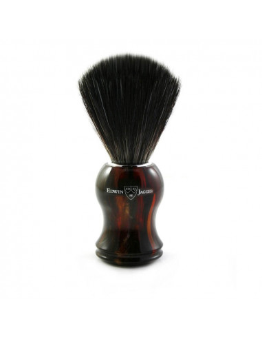 Edwin Jagger Shaving Brush Tortoiseshell Black Synthetic