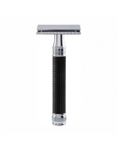 Edwin Jagger Double Edge Razor Black Chrome 3D Diamond DE3DBC15BL