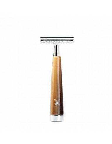 Muhle Safety Razor Liscio Resin Horn Brown
