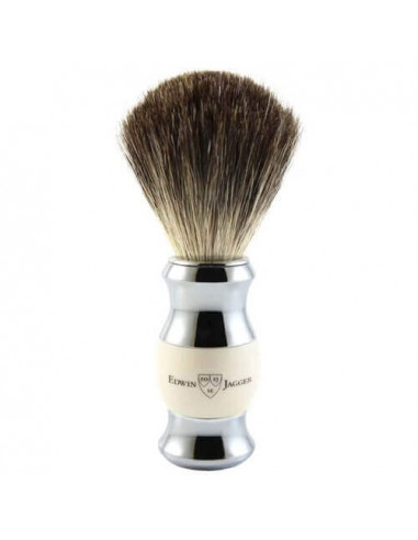 Edwin Jagger Shaving Brush Pure Badger Imitation Ivory & Chrome