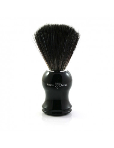 Edwin Jagger Shaving Brush Imitation Ebony Black Synthetic 21P36