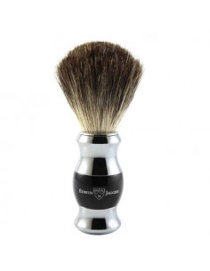 Edwin Jagger Black & Chrome Shaving Brush Pure Badger