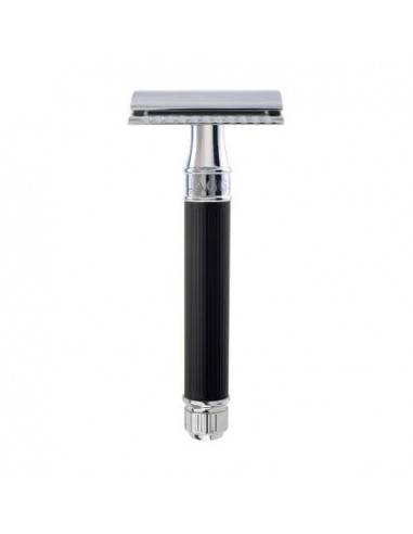 Edwin Jagger Double Edge Razor Black Rubber Coated