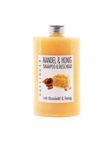 Haslinger Almond and Honey Shampoo & Shower Gel 200ml