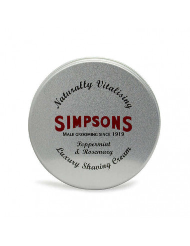 Simpsons Shaving Cream Peppermint & Rosemary 125ml