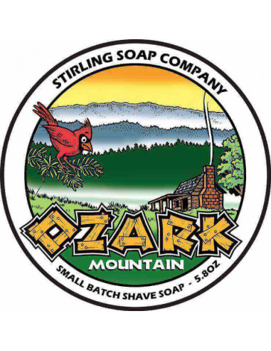 Stirling Soap Company Shave Soap Ozark Mountain 170ml