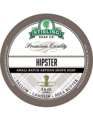 Stirling Soap Company Shave Soap Hipster 170ml
