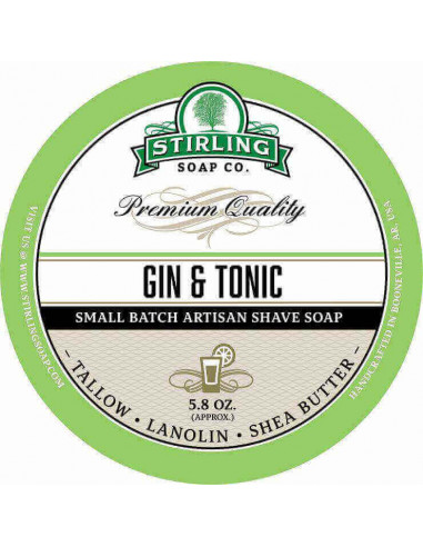 Stirling Soap Company Shave Soap Gin & Tonic 170ml