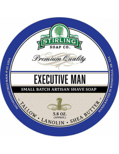Stirling Soap Company Shave Soap Executive Man 170ml