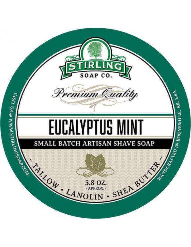Stirling Soap Company Shave Soap Eucalyptus Mint 170ml