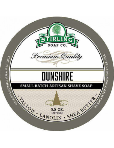 Stirling Soap Company Shave Soap Dunshire 170ml