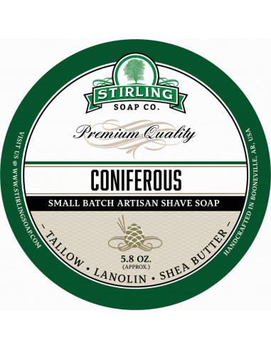 Stirling Soap Company Shave Soap Coniferous 170ml
