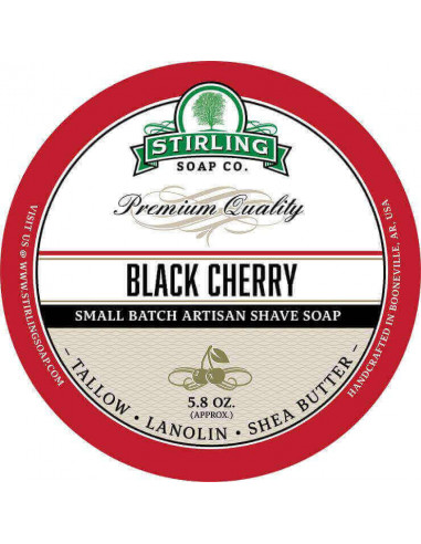 Stirling Soap Company Shave Soap Black Cherry 170ml