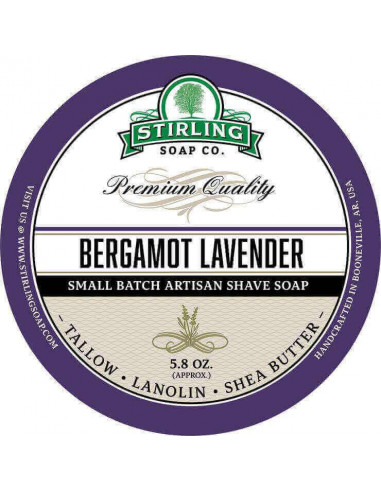 Stirling Soap Company Shave Soap Bergamot Lavender 170ml