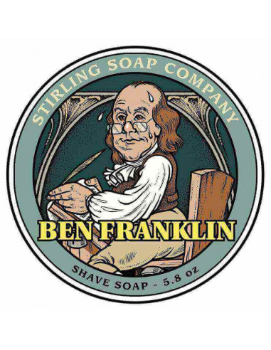 Stirling Soap Company Shave Soap Ben Franklin 170ml