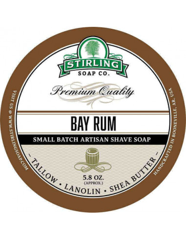Stirling Soap Company Shave Soap Bay Rum 170ml