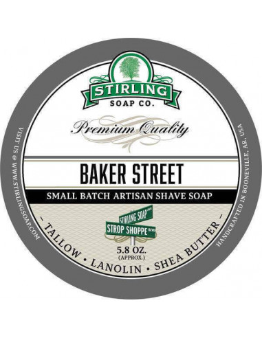 Stirling Soap Company Shave Soap Baker Street 170ml