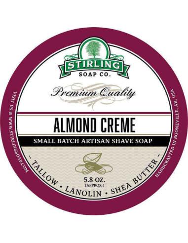Stirling Soap Company Shave Soap Almond Creme 170ml