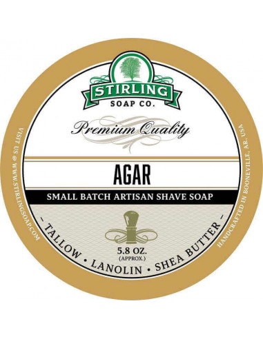 Stirling Soap Company Shave Soap Agar 170ml