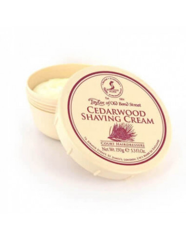 Taylor of Old Bond Street Cedarwood Shaving Cream Bowl 150g