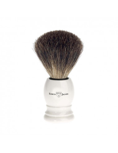 Edwin Jagger Imitation Ivory Shaving Brush Pure Badger